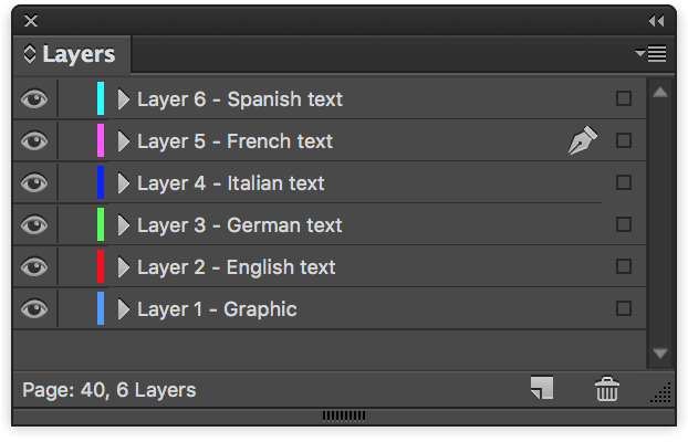 Copy Indesign Layer - Layers