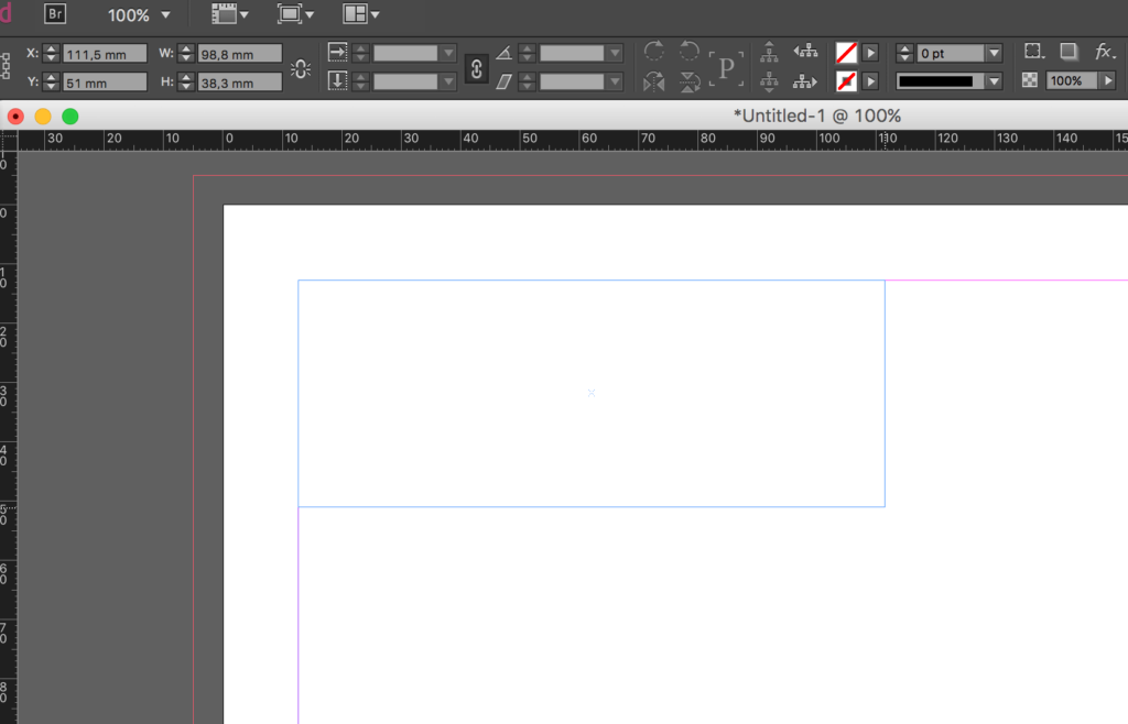 How to draw a table in InDesign: create the text-frame