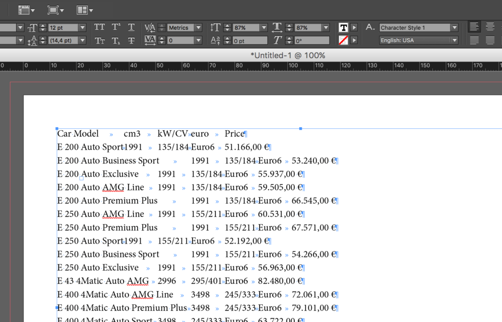 Import table from Word to InDesign: copy table from Word to InDesign
