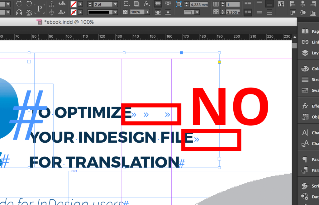 Wrong use of Tabulation in InDesign