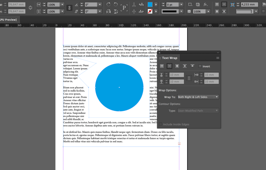 Personalize the boundary with the Direct Selection tool or the Pen tool