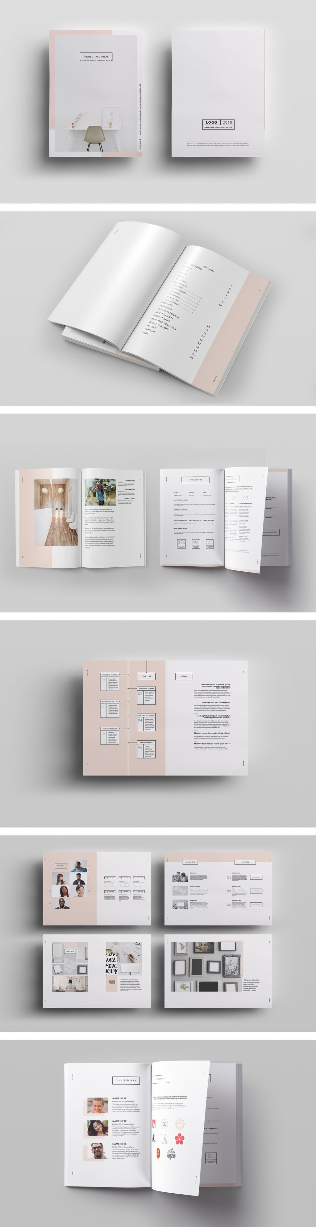 Sophisticated Free InDesign Template