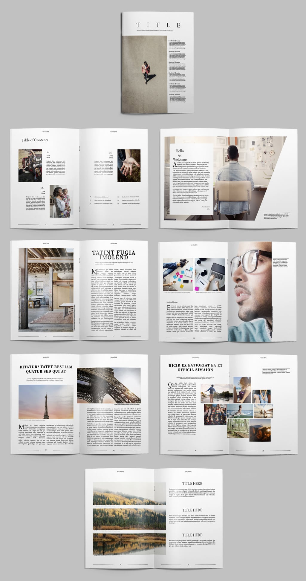 Minimalist Magazine Free InDesign Template