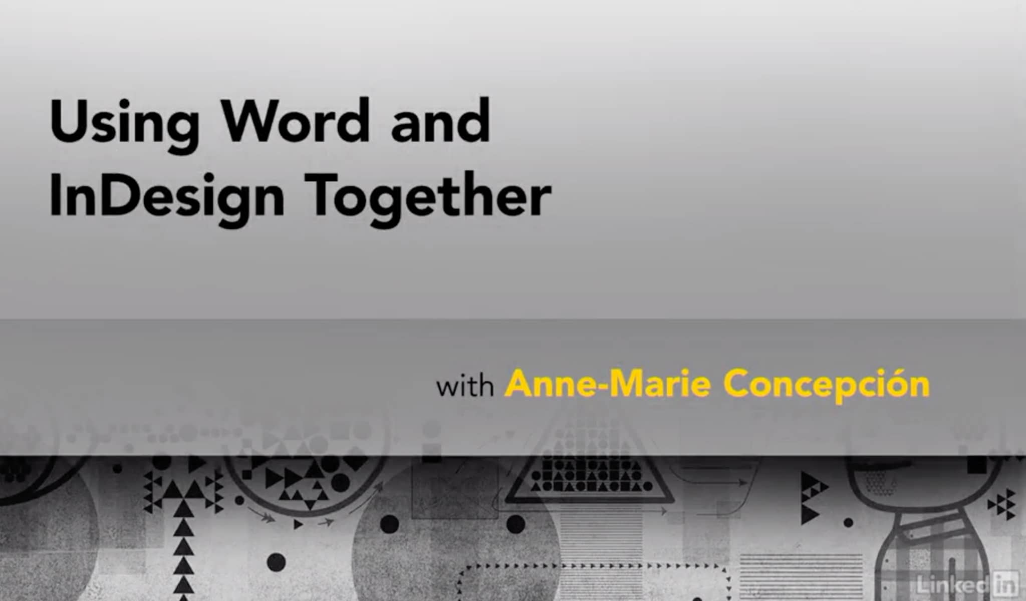 Word and InDesign: Integration by Anne-Marie Concepción