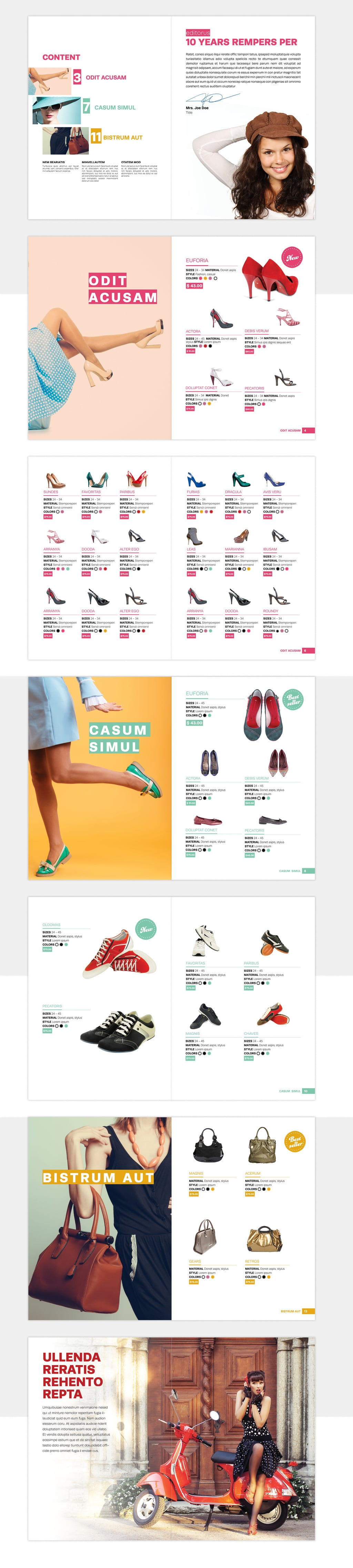 Clothing Catalog Template