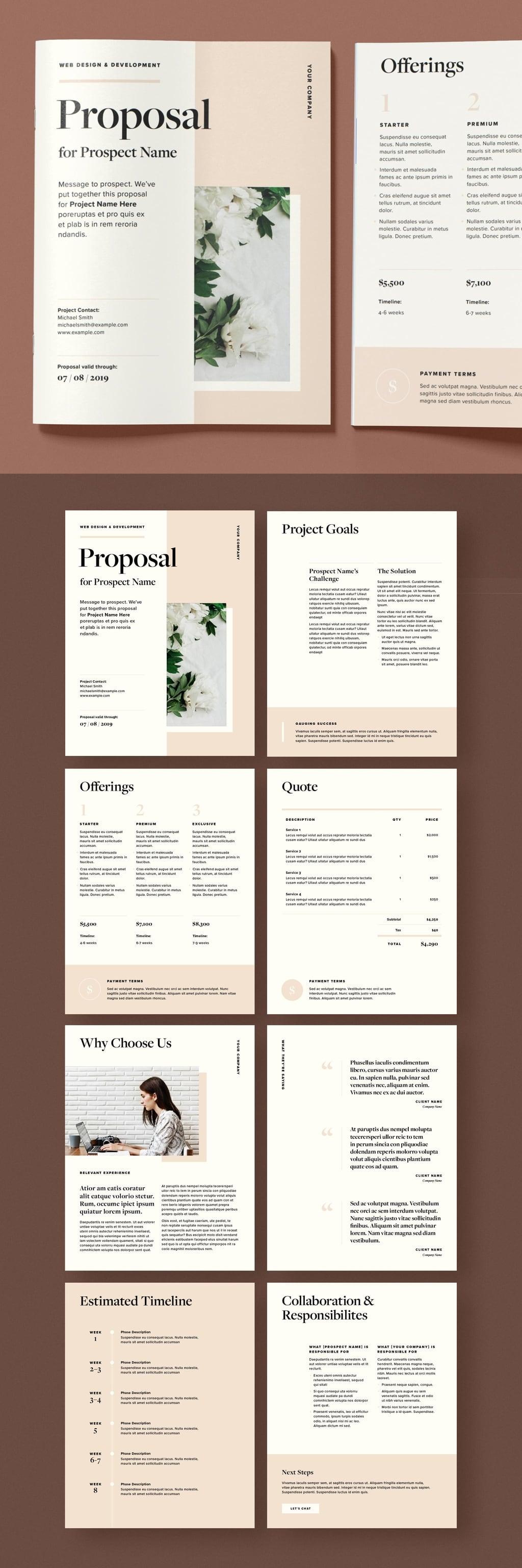 Minimalist yet imaginative brochure InDesign Template