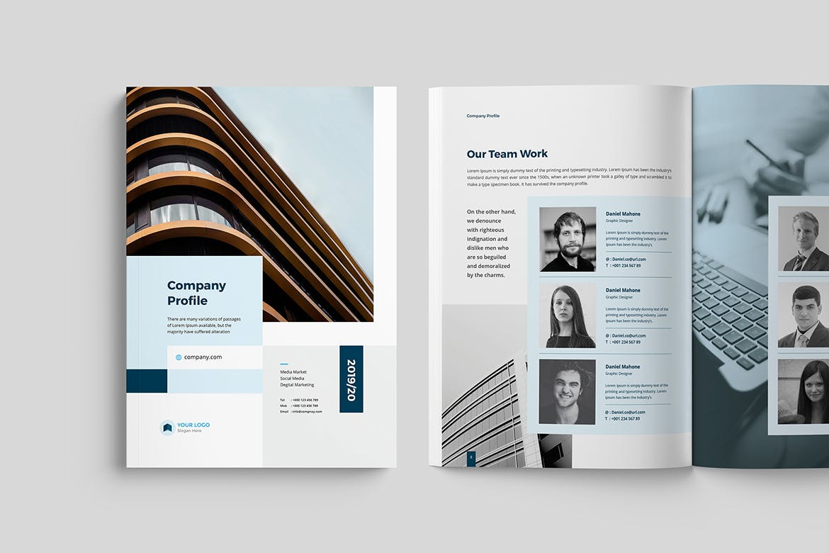 Modern and clean brochure template