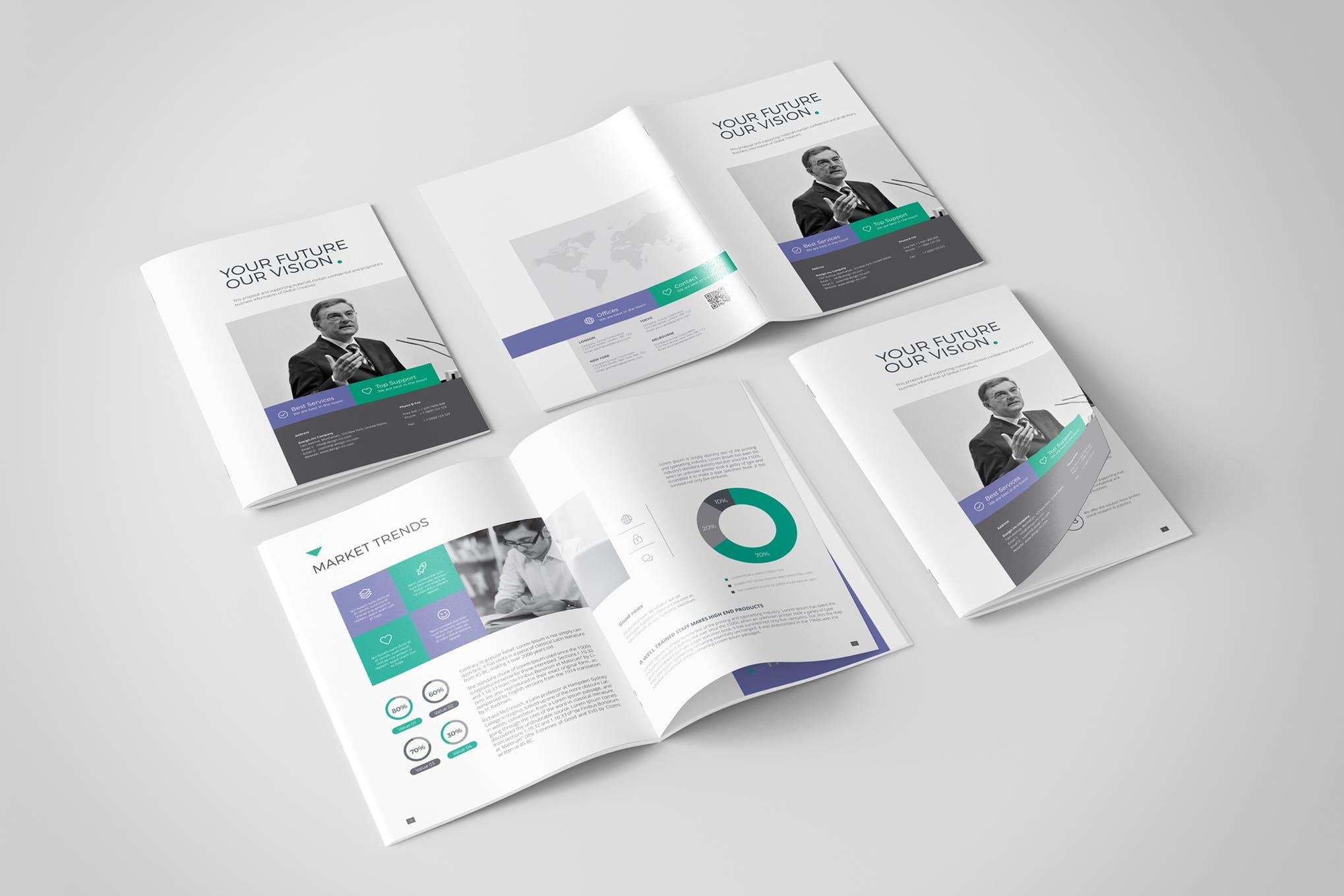 Multipurpose simplicity brochure indesign template