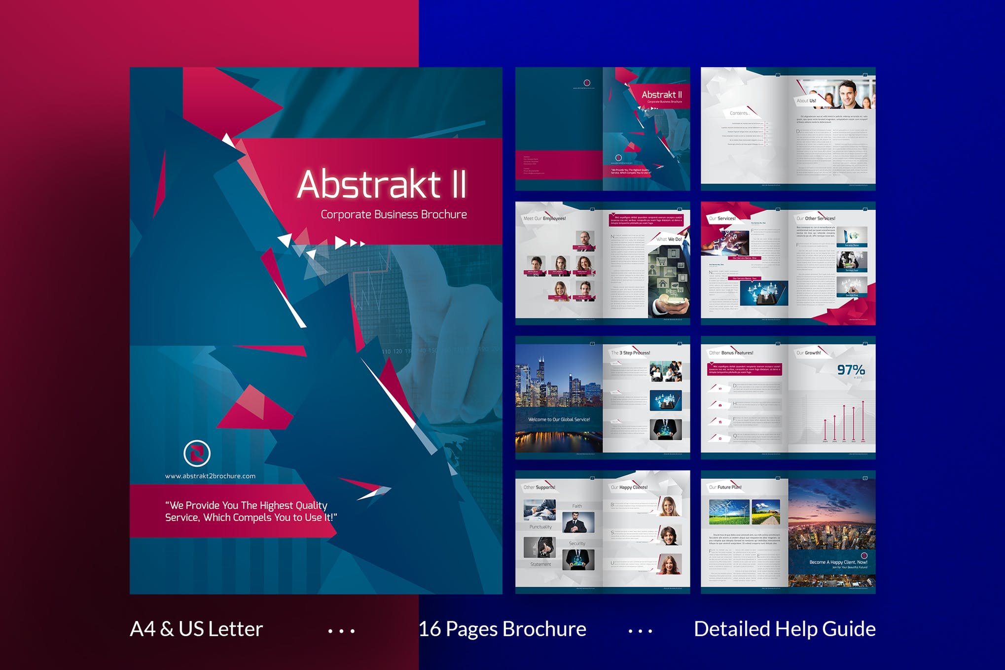 Creativity and Colors brochure template