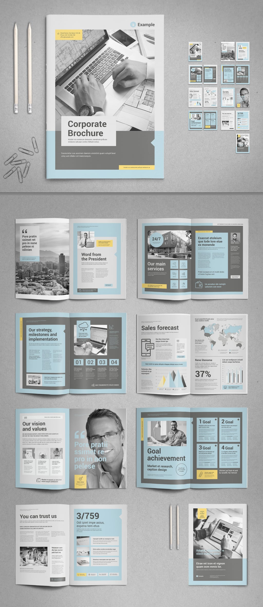 Charming Creativity Brochure InDesign template