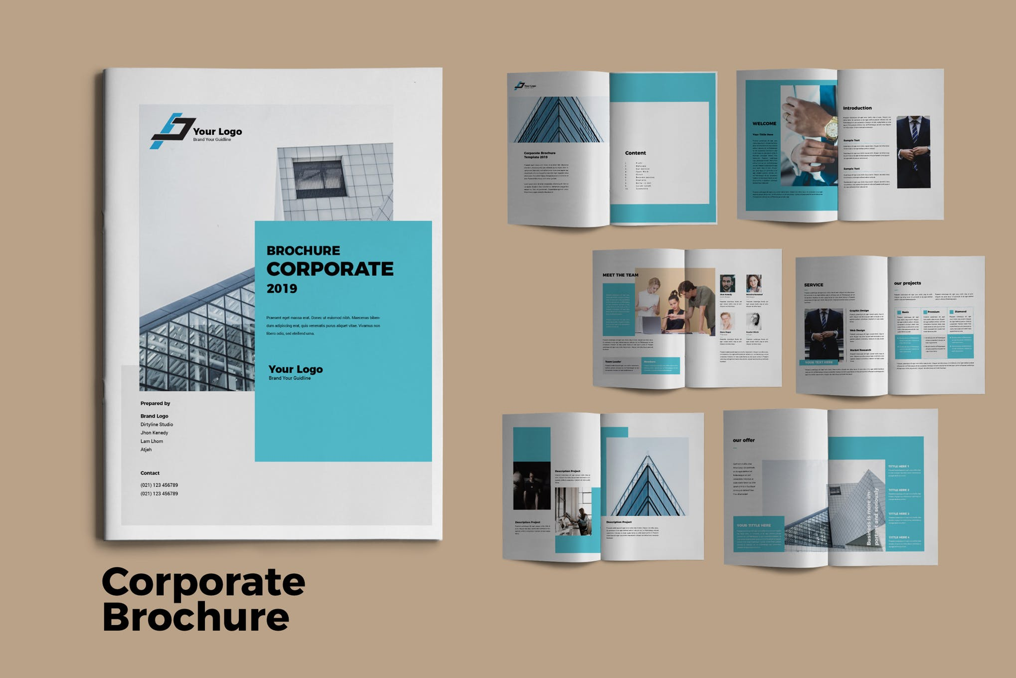 The Corporate Brochure InDesign template