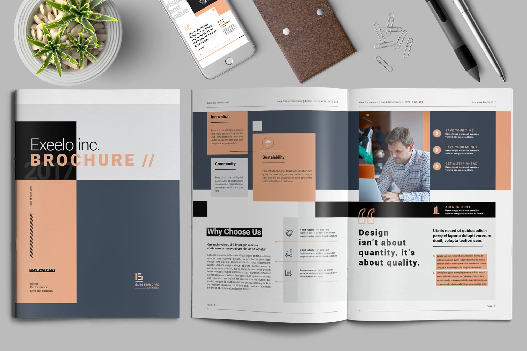 The Bold Shapes Brochure template
