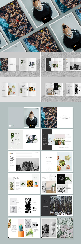 Grey Originality indesign brochure template
