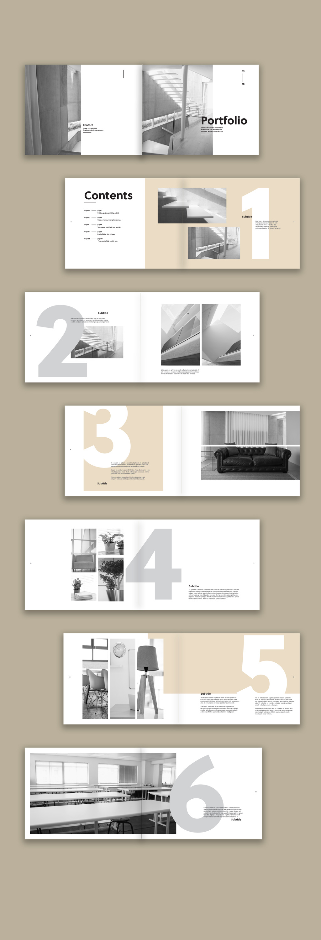 Design and Furniture Portfolio with Neutral Elements brochure