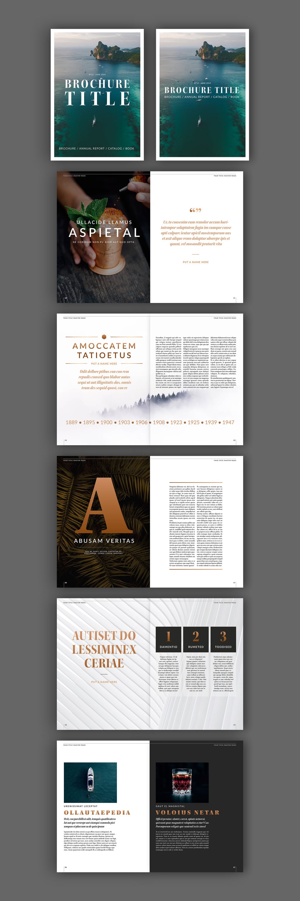Elegant Brochure Layout with Beige Accents template