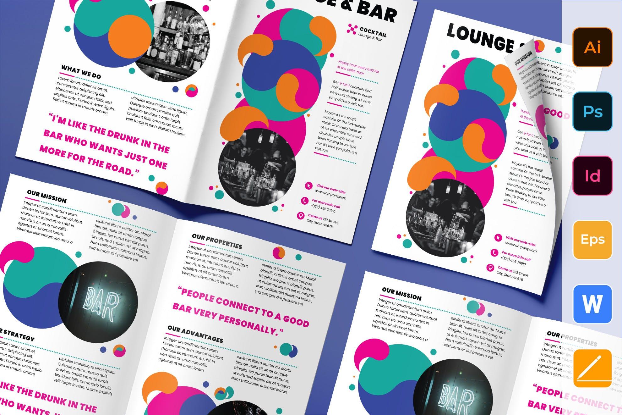 Lounge Bar Brochure template