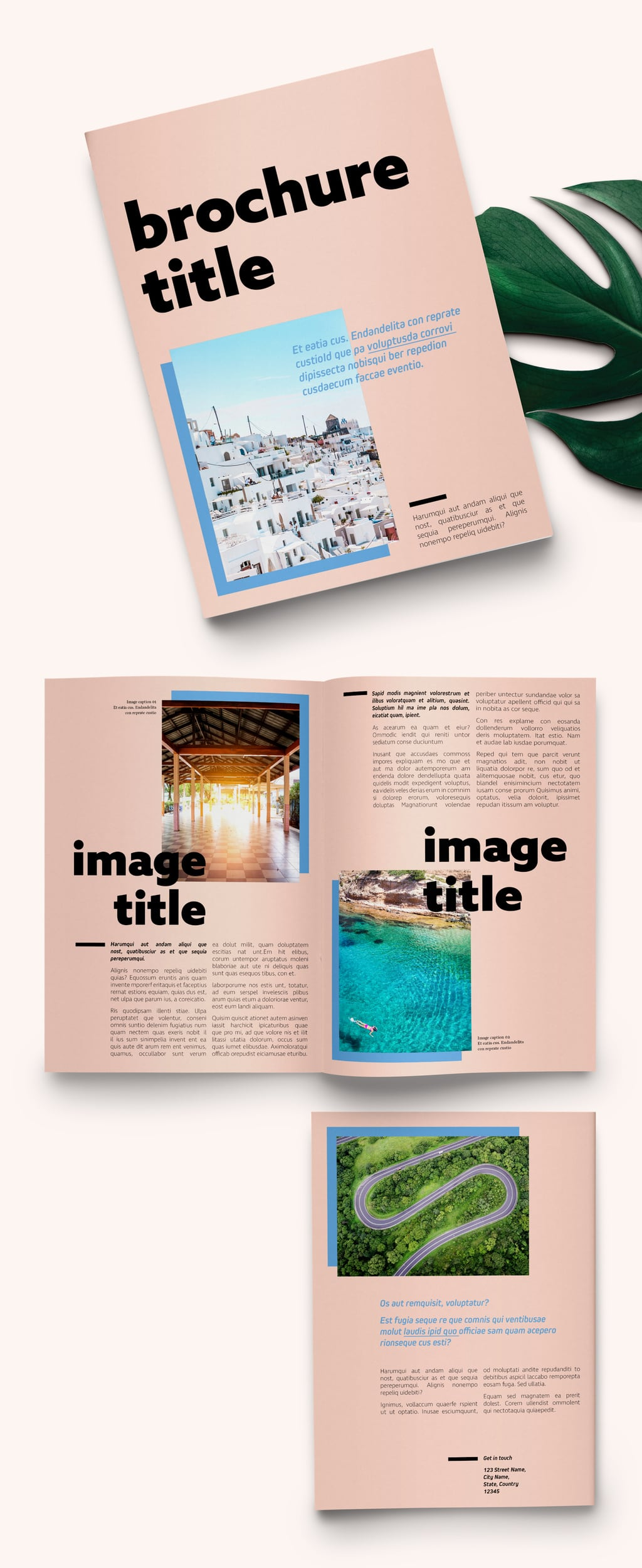 Free Bifold Template: Pastel Brochure Layout