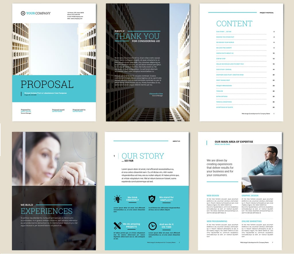 InDesign Brochure Templates Free: The Basic Business Proposal Layout