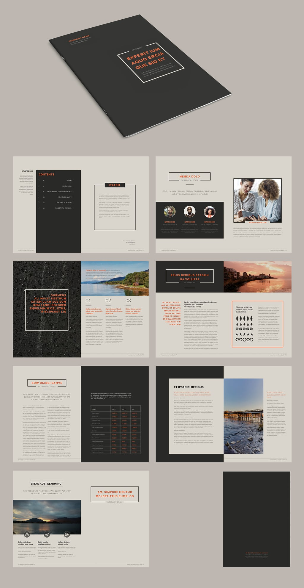 InDesign Brochure Templates Free: The Minimal Brochure Layout
