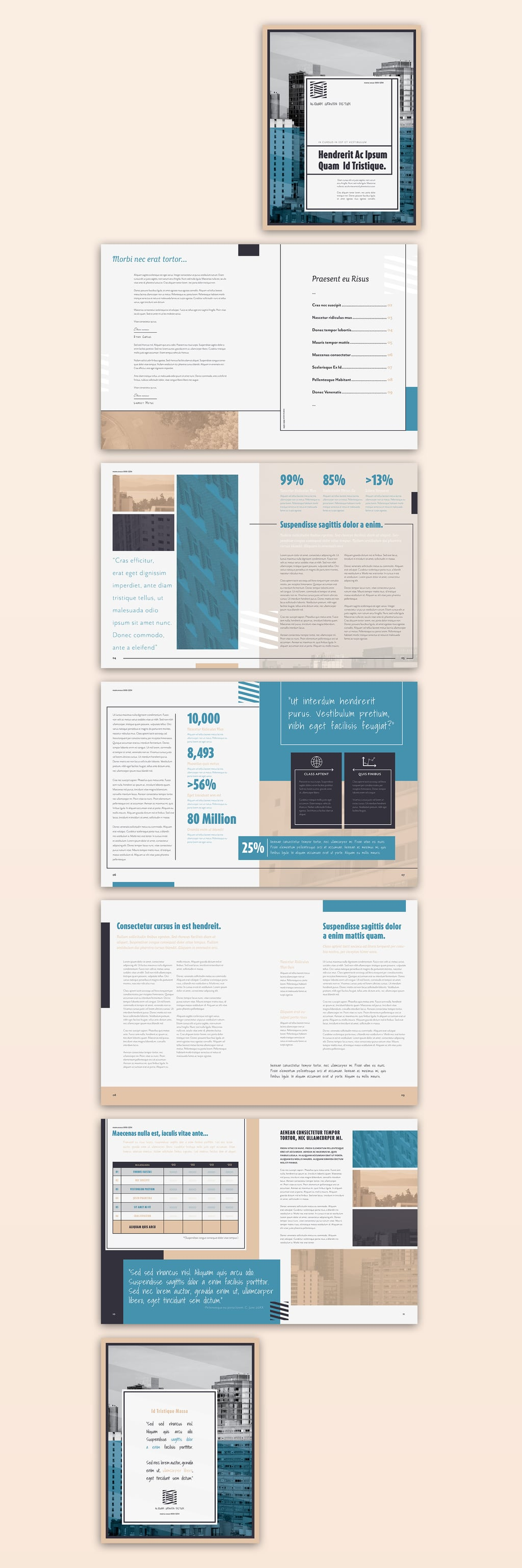 InDesign Brochure Templates Free: The statistical Layout