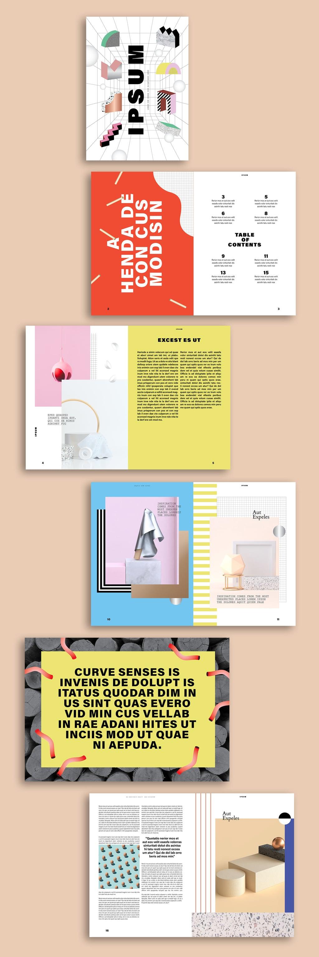 InDesign Brochure Templates Free: Eye-catching Magazine Layout