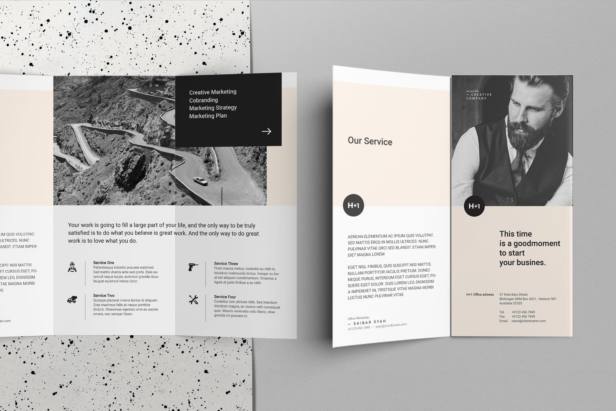 New business trifold brochure template
