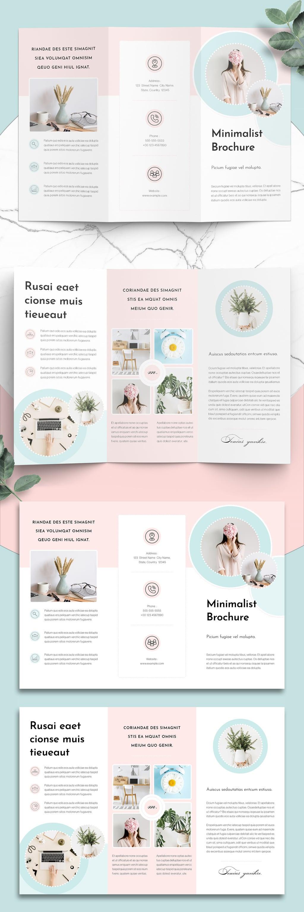 Mint Minimalist trifold Brochure template