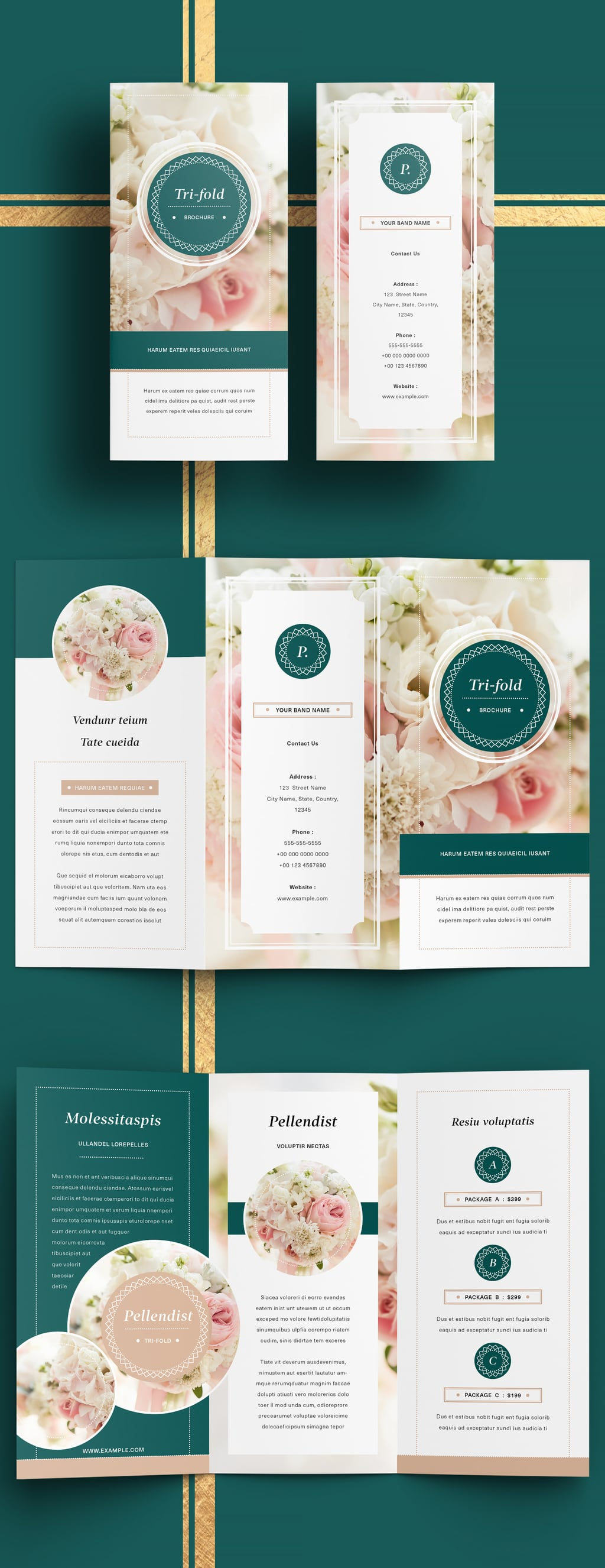 Trifold Pink Template