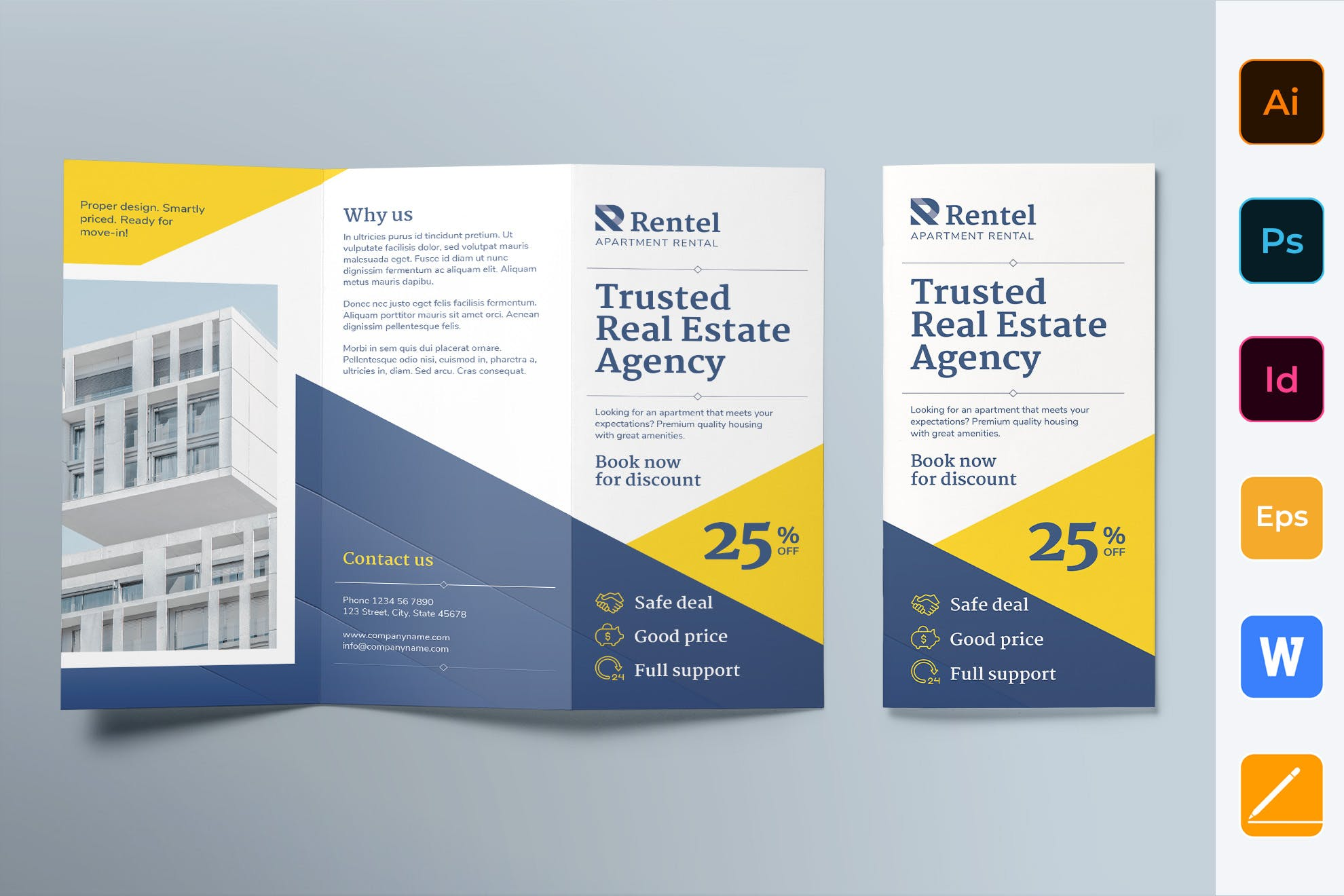 Apartment Rental trifold template