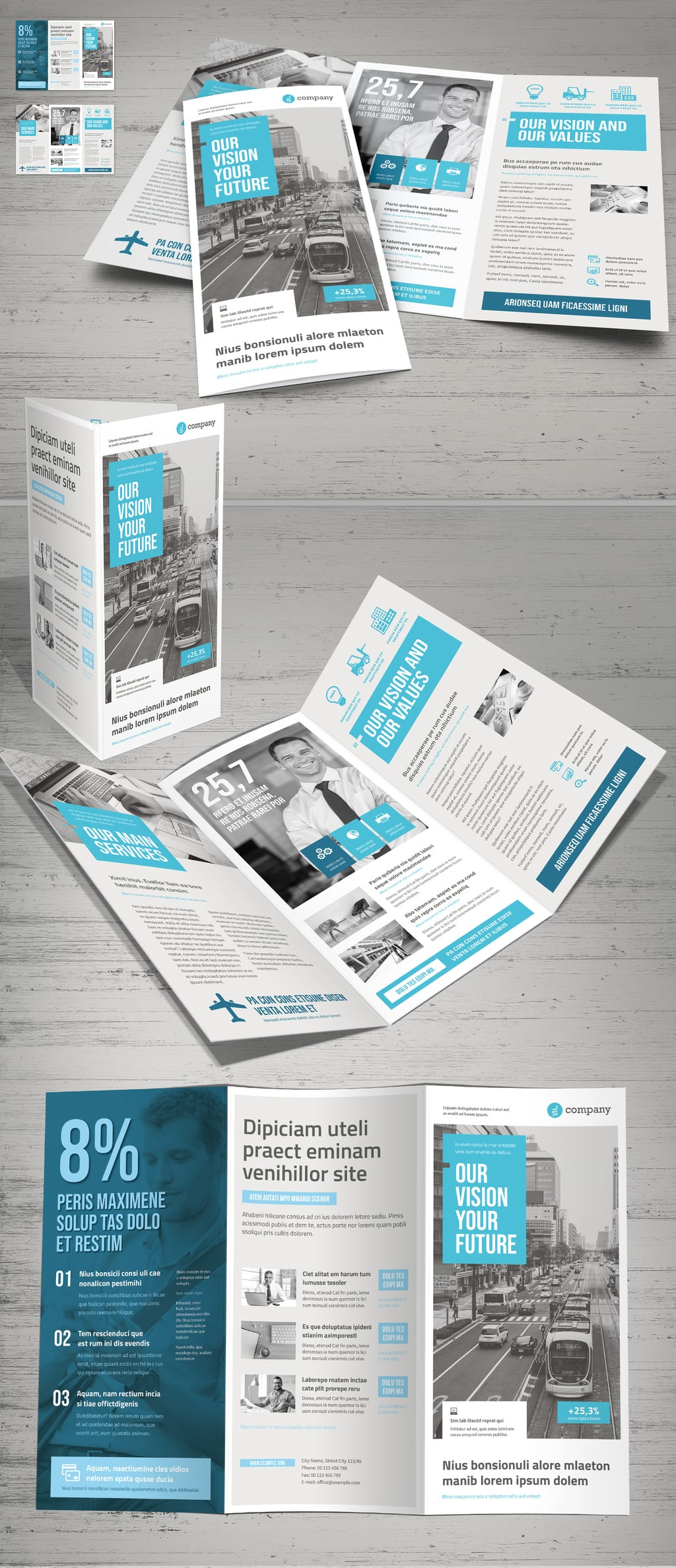 Grey and White Brochure template
