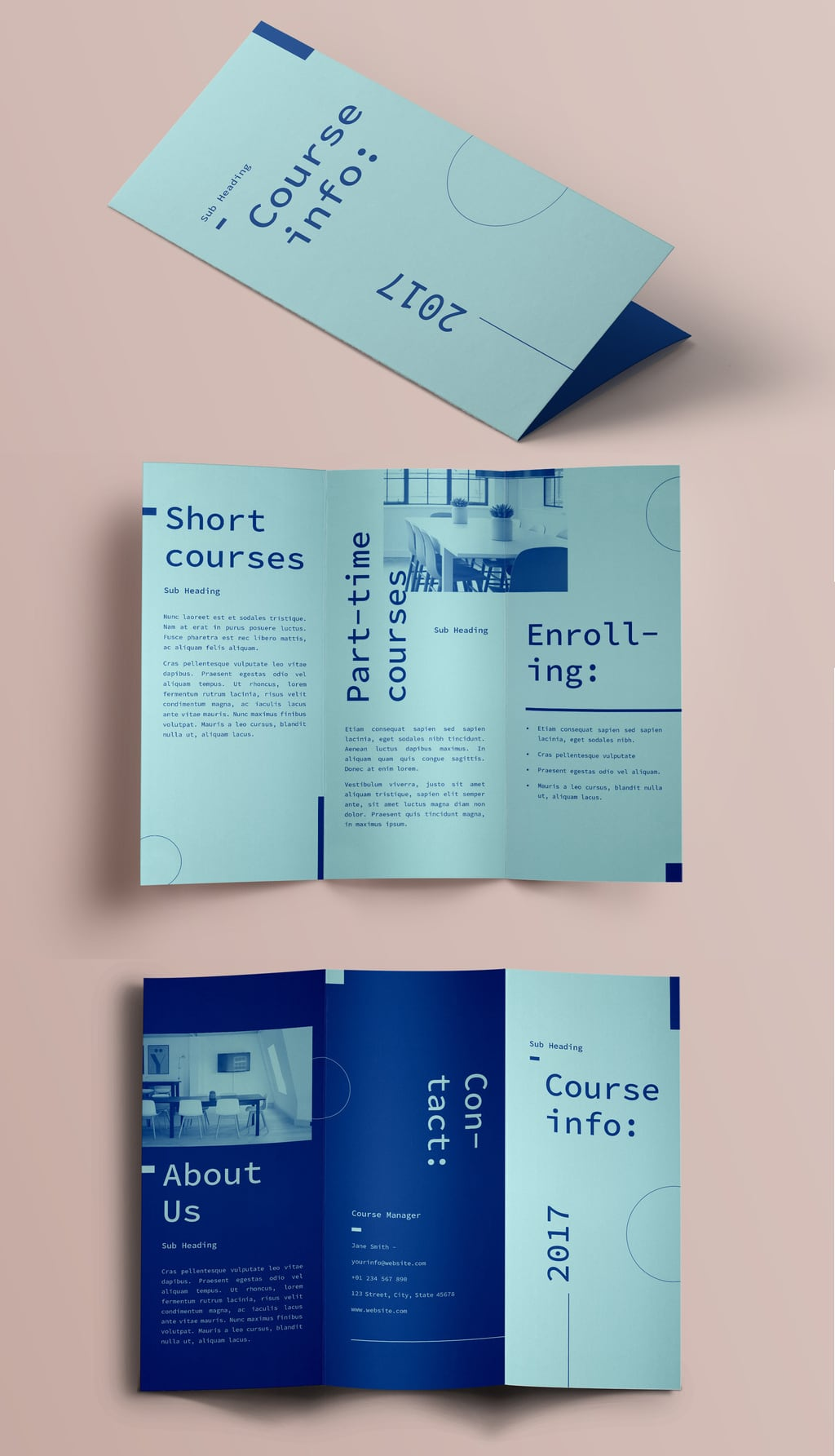 InDesign Trifold Template Free: Classic Brochure Layout