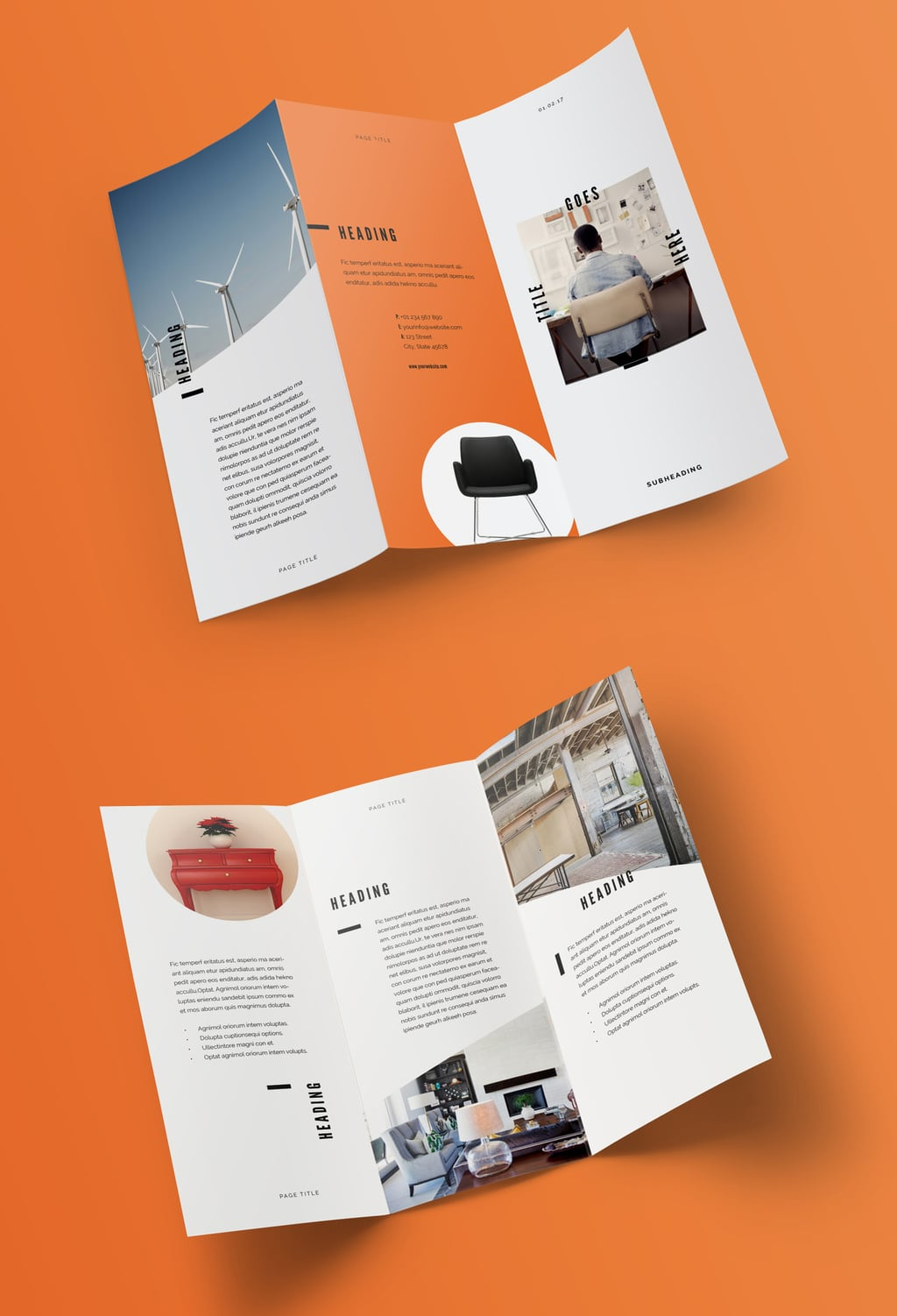 InDesign Trifold Template Free: Pop Brochure Layout