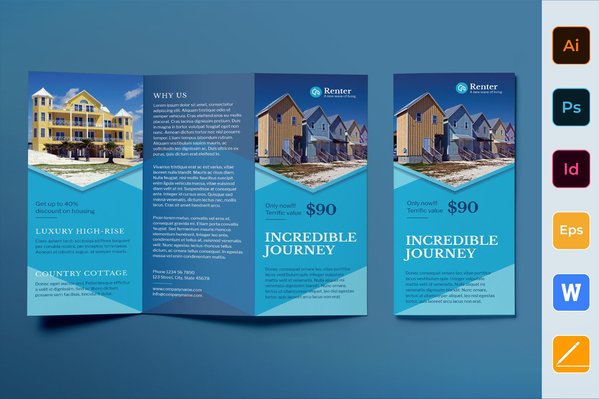 Vacation Rental brochure template