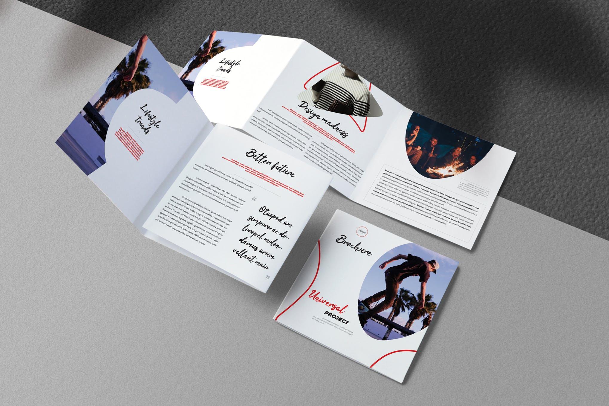 The artistic and unique square brochure