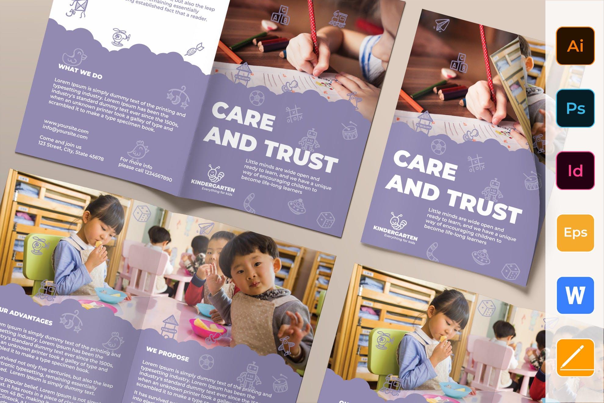 Kindergarten Brochure template