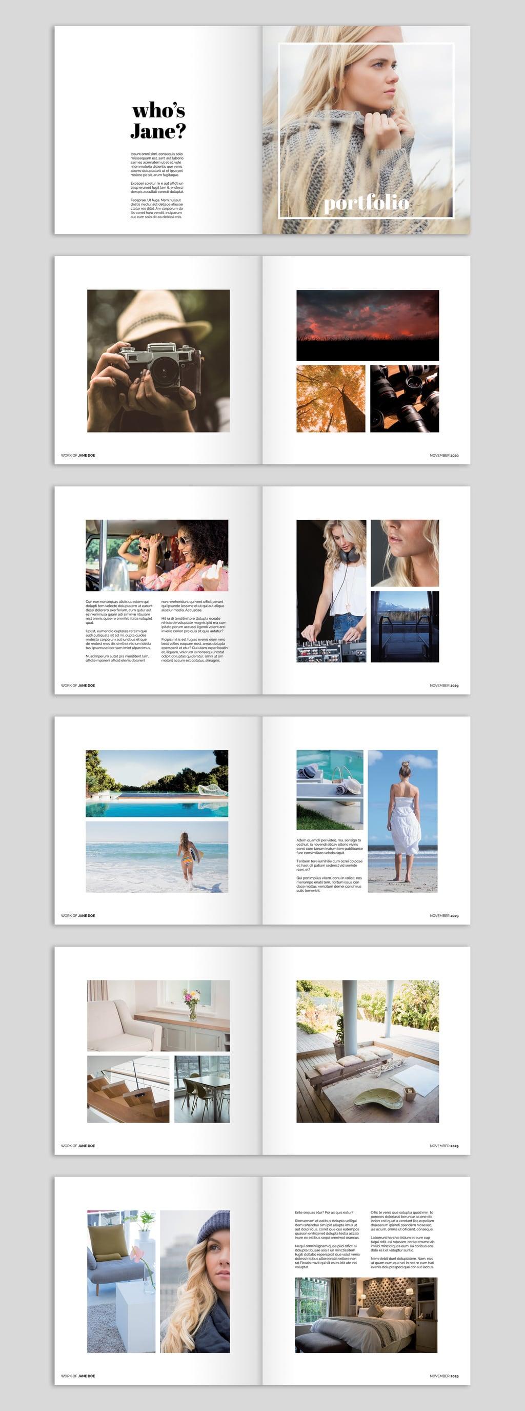 Square Portfolio Layout