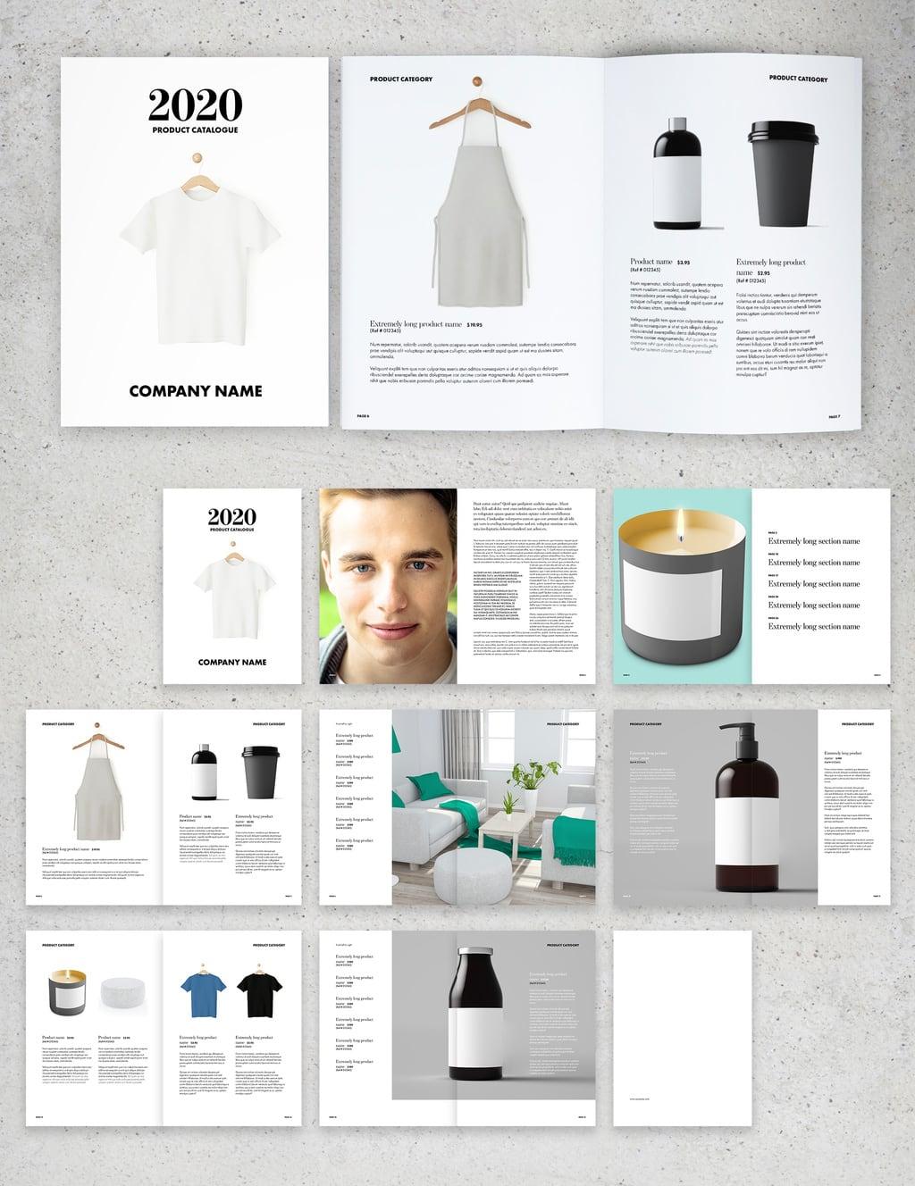 Minimalist Catalog Layout