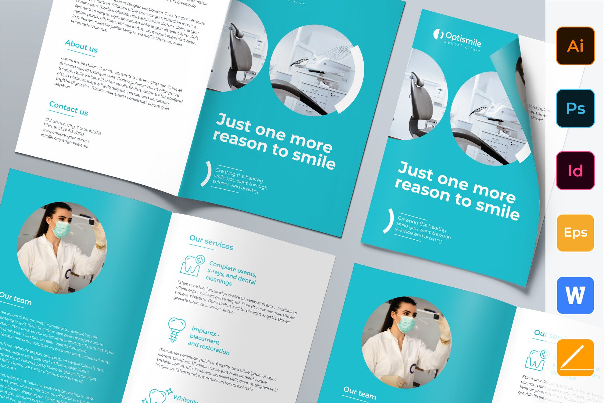 Dental Clinic Brochure indesign template