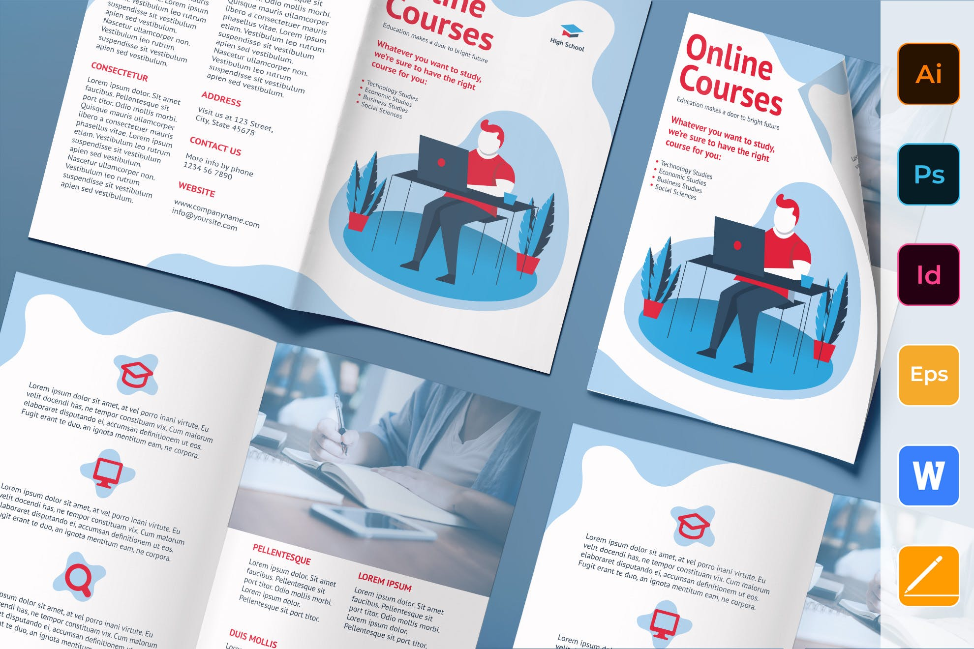 Online Course Brochure template