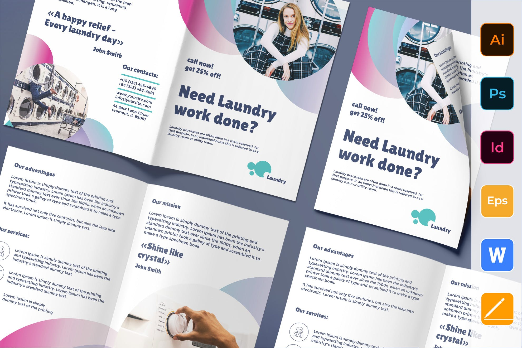 Laundry Brochure template