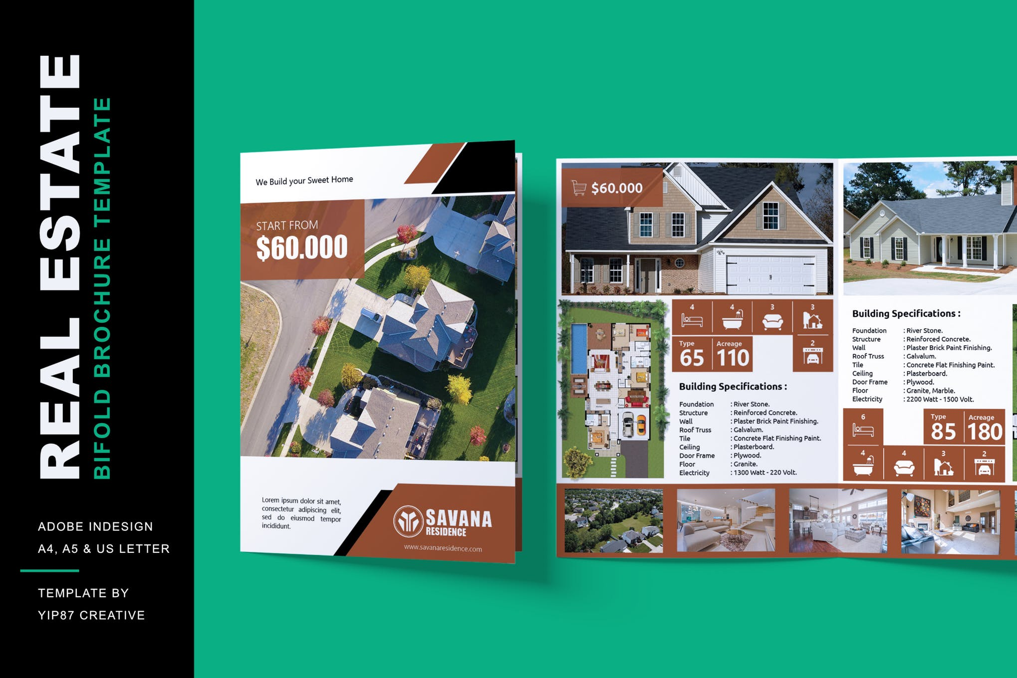 Real Estate and property Bifold Brochure