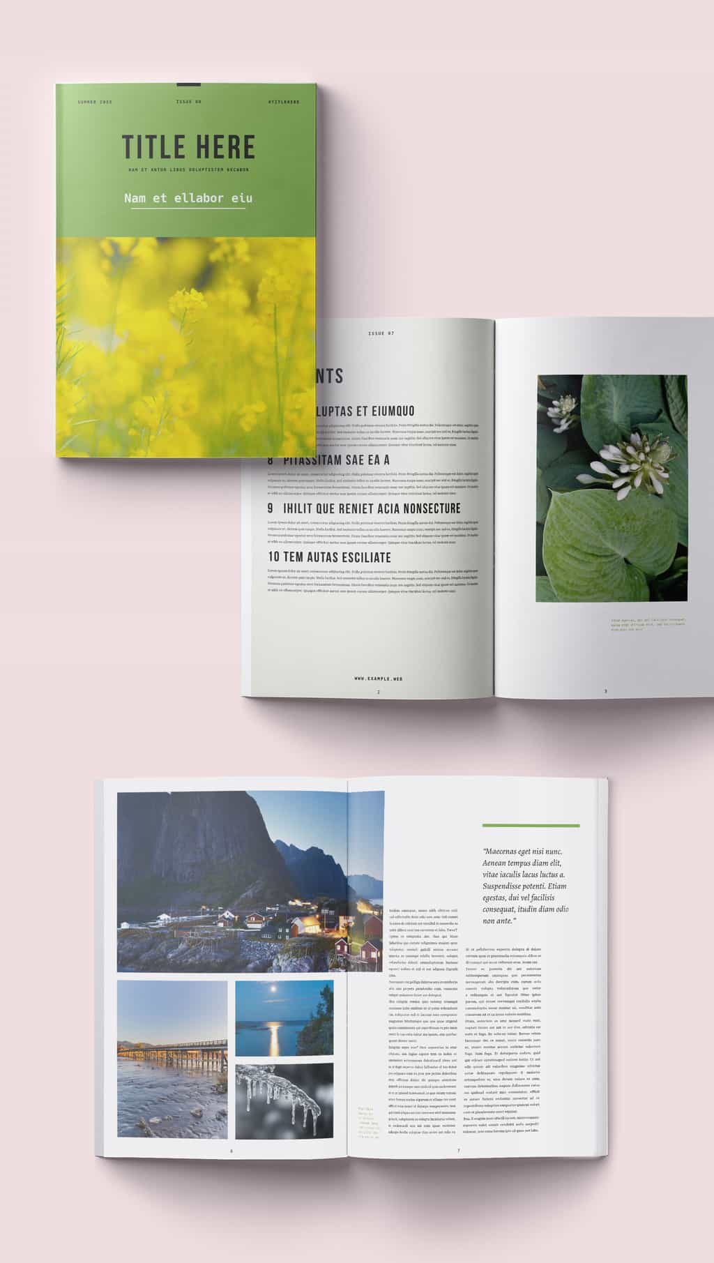 Free Clean and Modern Magazine Template Preview