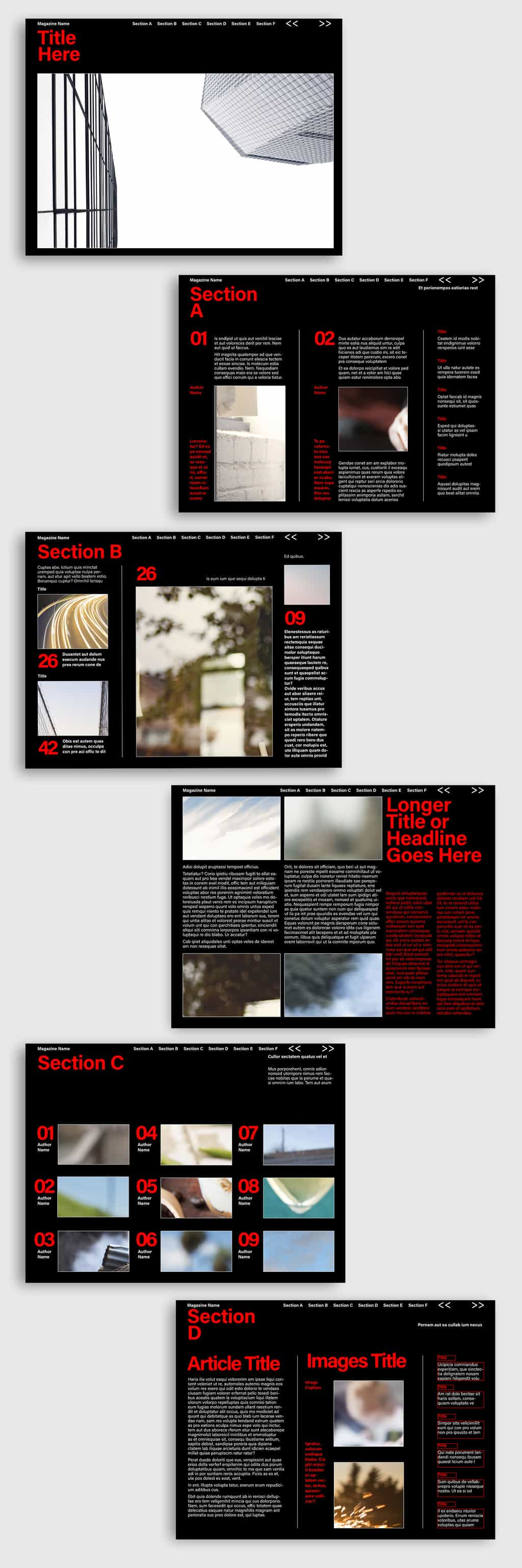 Free InDesign Digital Magazine Template Preview