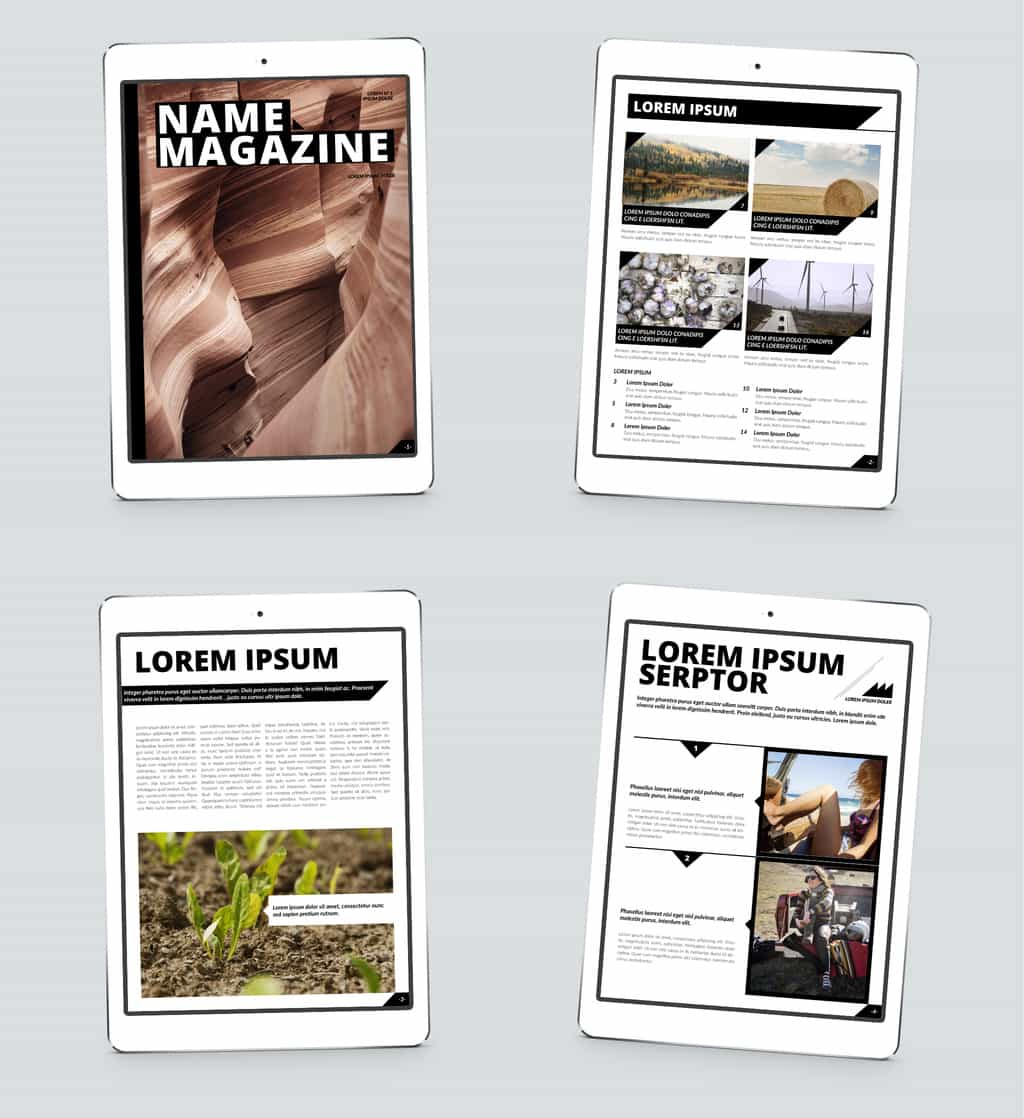 Free Indesign Magazine Template Family: 80 Cool InDesign Magazine And Zine Templates