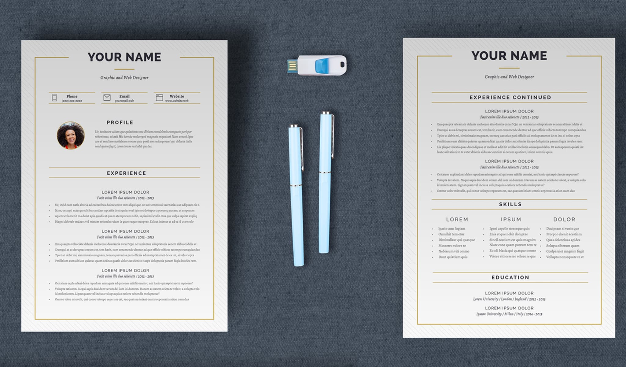 Linear Resume Layout
