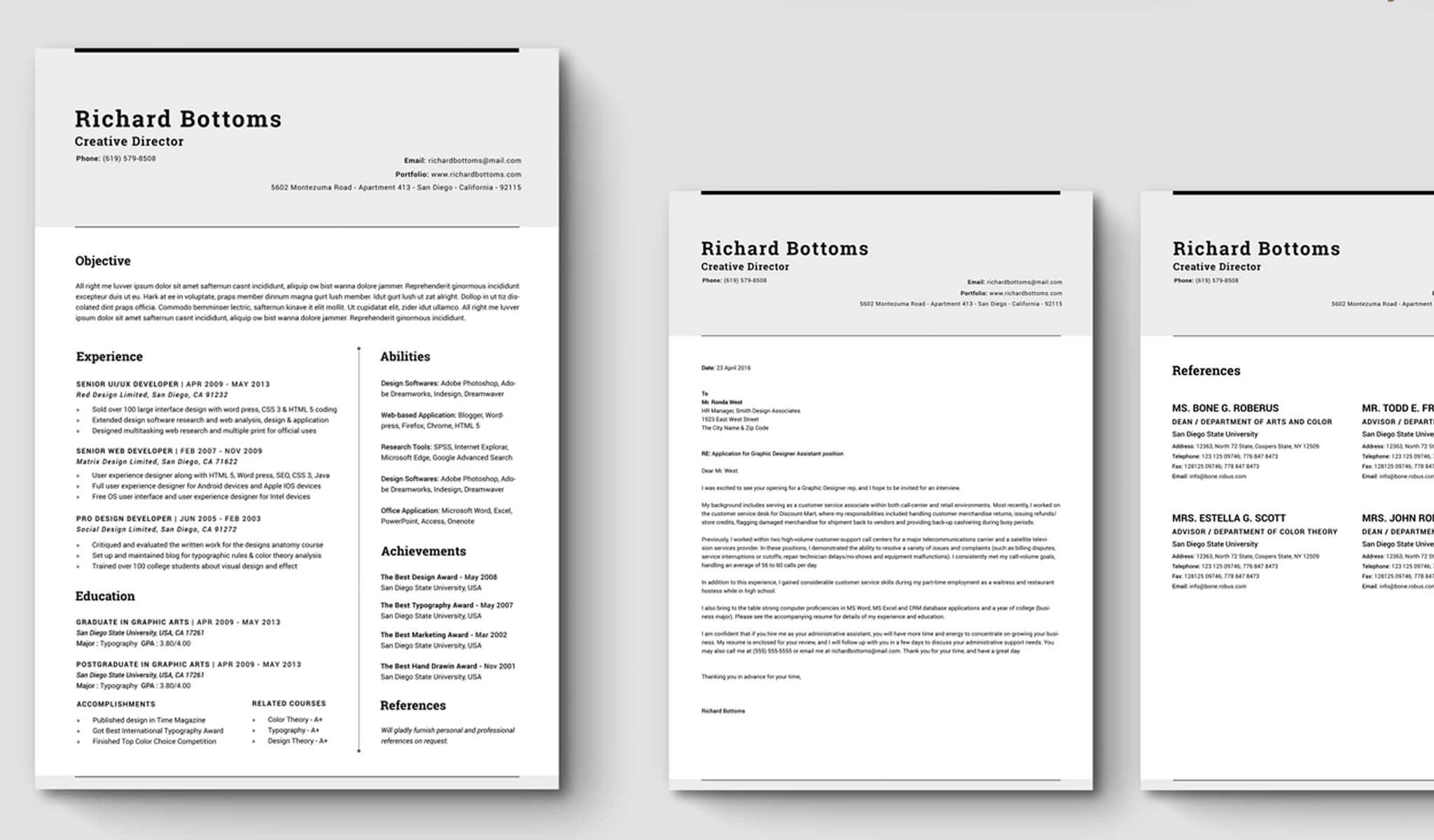 The Timeless InDesign CV Template