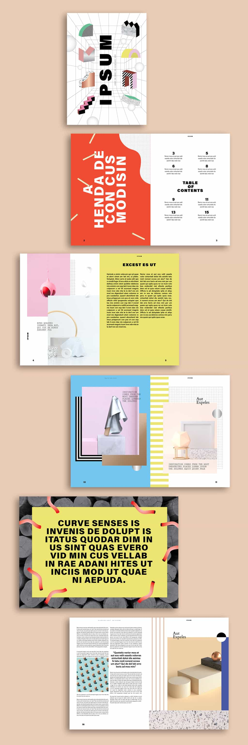 Free Zine Template Preview