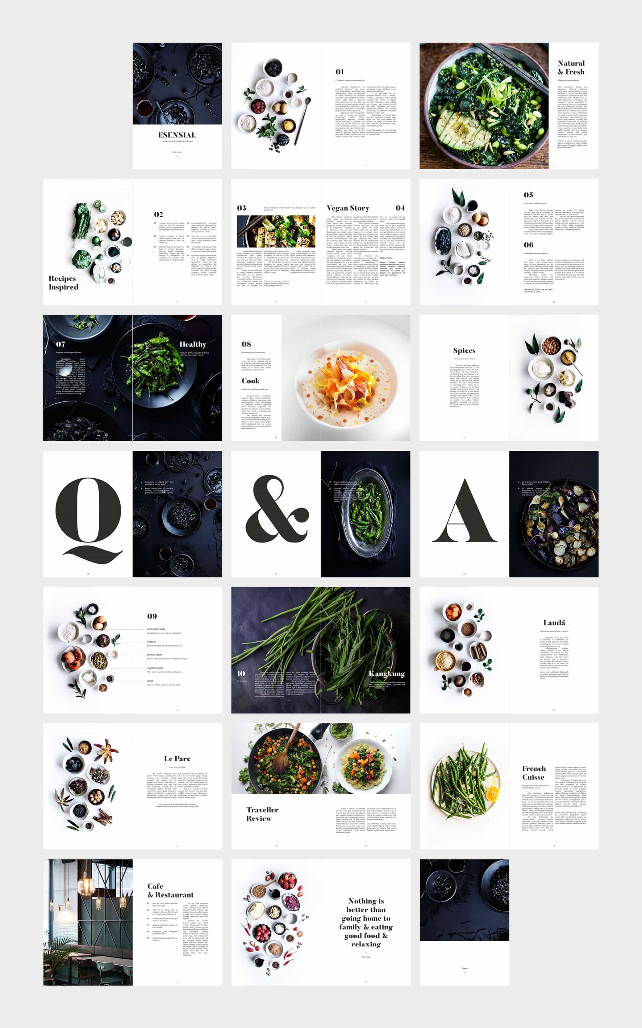 InDesign Food Magazine Template Preview