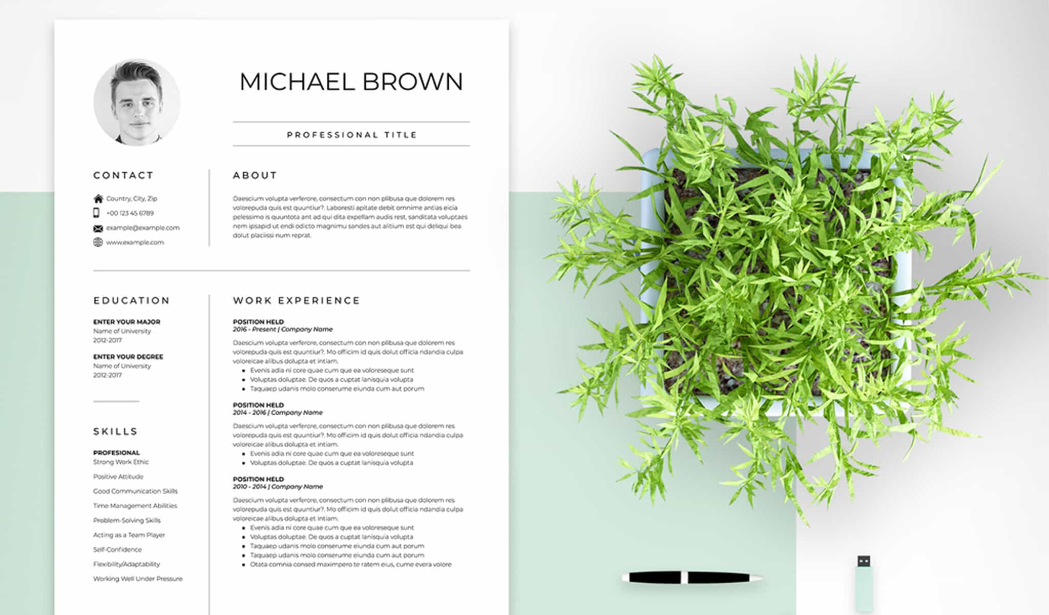 The Minimal Resume and Cover Letter Set