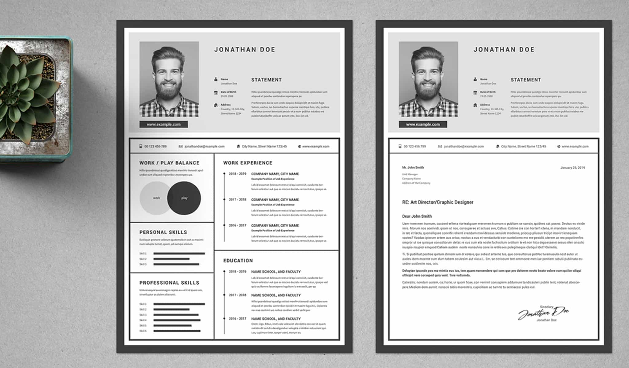 Resume with Unique Layout
